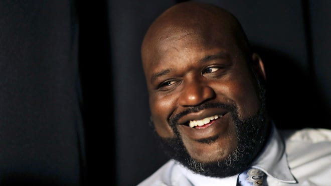 This April 18, 2017 file photo shows former NBA basketball player Shaquille O'Neal.