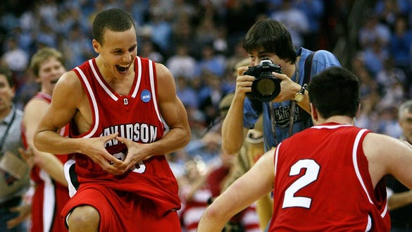 Relive Steph Curry's stunning 40-point game in Davidson's 2008 upset of Gonzaga