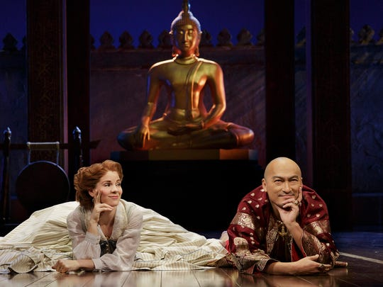 "Kelli O'Hara and Ken Watanabe in a scene from ""The King and I."""