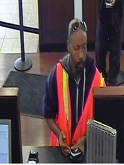 A suspect being sought for bank fraud in Bloomfield Township.