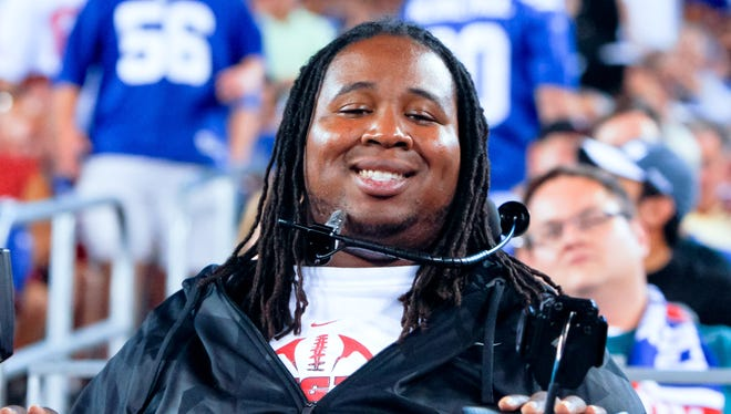 Former Rutgers player will watch Super Bowl XLVIII in the stadium where he was paralyzed in 2010.
