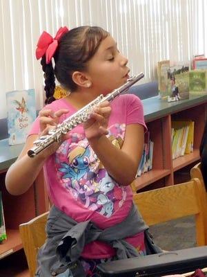 April Martinez-Velasquez, student at Two Bunch Palms Elementary School in Desert Hot Springs
