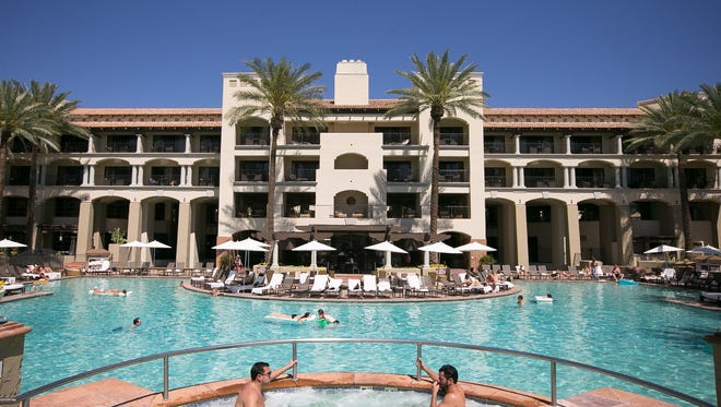Michael Schennum/The Republic The Fairmont Scottsdale Princess, Scottsdale?s largest resort, is looking to expand ? there are plans to add 102 guest rooms with space for another 43 in the future. The main pool at the Fairmont Scottsdale Princess on Wednesday, April 1, 2015.