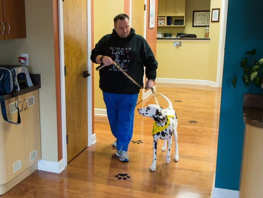 Randy Creasy, office manager at the Animal Wellness
