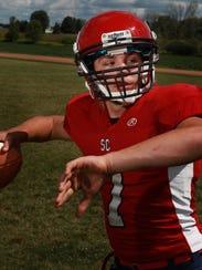 Spencer/Columbus quarterback Calvin Lenz was photographed,