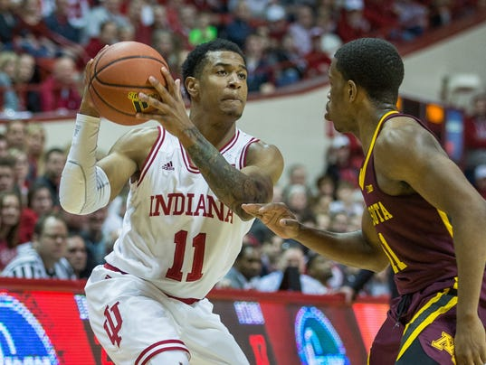 NCAA Basketball: Minnesota at Indiana