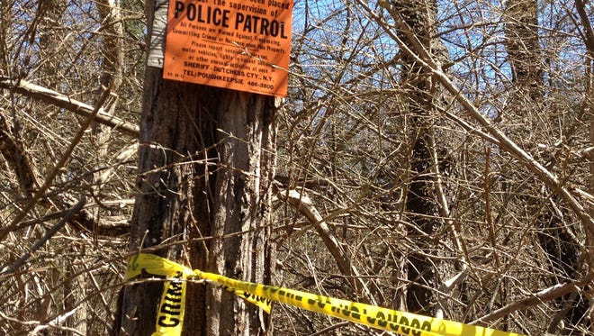 State police said an apparent set of human remains was discovered Saturday morning about 500 feet east of Maple Avenue in the town of Patterson. (Alex Taylor/The Journal News)
