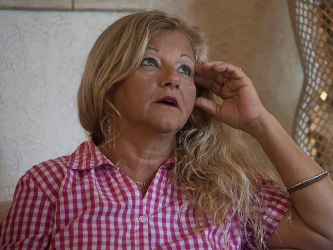 Breast cancer survivor Bobbie Jean Joiner waits on