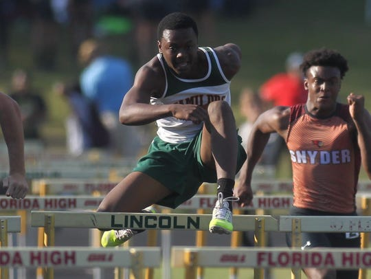 FAMU DRS' Keyon Pollock races to a second-place finish