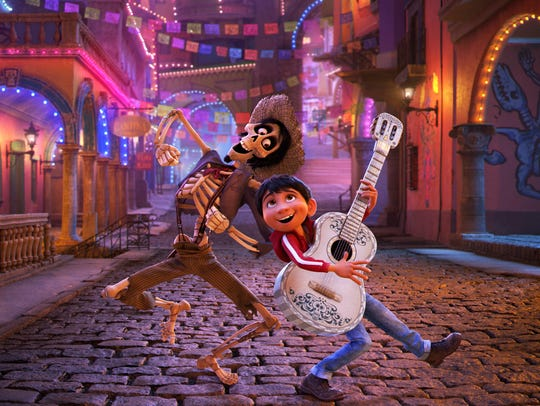 "Hector and Miguel get in tune in Disney's ""Coco."""