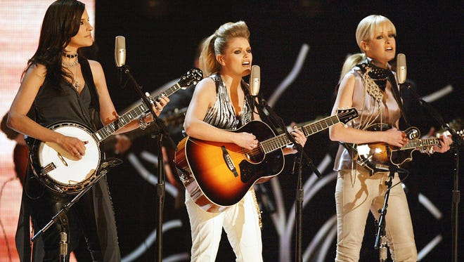The Dixie Chicks, shown here perform at the 45th Annual Grammy Awards in 2003, are back on the road.