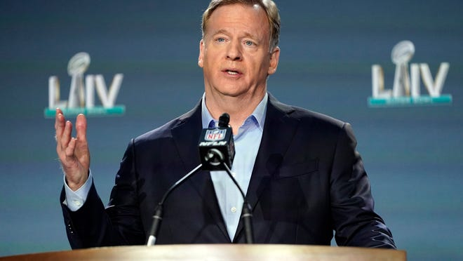 NFL commissioner Roger Goodell is faced with the challenge of getting the league underway in the face of the coronavirus pandemic.