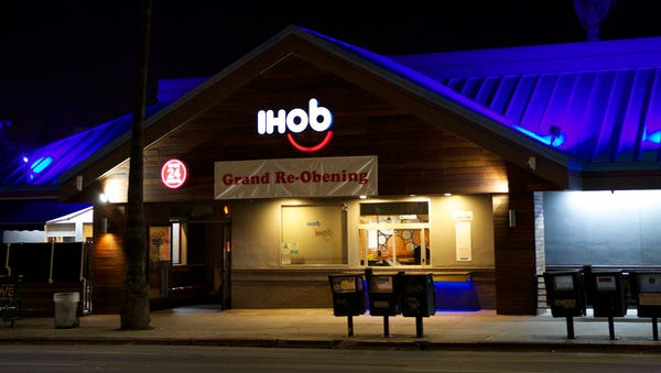 IHOP has temporarily changed its name to IHOb....