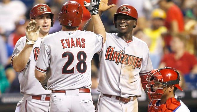 Diamondbacks shortstop Didi Gregorius  (right) has been traded to the New York Yankees.