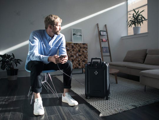 The Bluesmart smart suitcase.