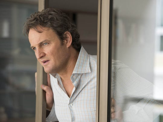 "In ""All I See Is You,"" James (Jason Clarke) keeps an eye on his wife."