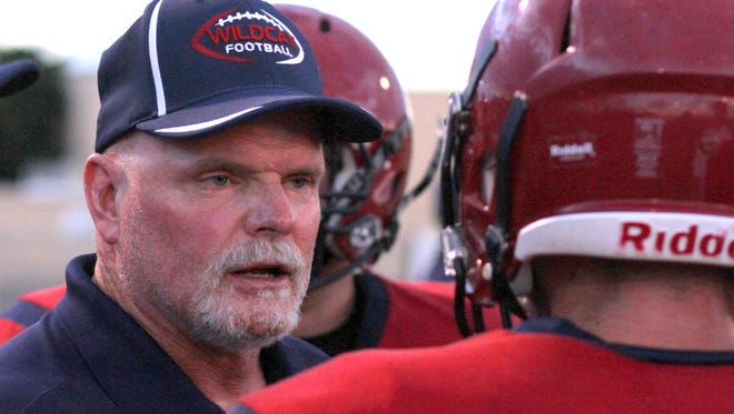 First-year varsity head coach Greg Simmons has led the Deming High Wildcats to a share of the District 3-5A league lead. The Cats will set out for sole possession on Friday when they host the Chaparral Lobos at 7 p.m. in DHS Memorial Stadium.