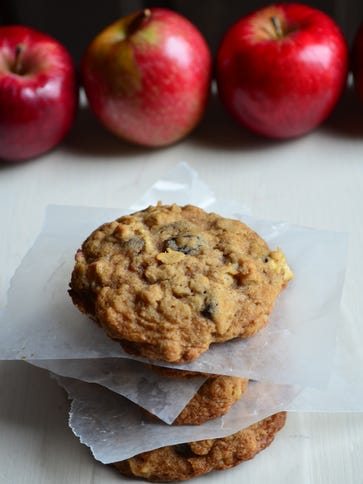 These Apple Raisin Oatmeal Cookies are incredibly moist,