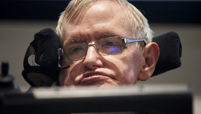 British scientist Stephen Hawking attends the launch of The Leverhulme Centre for the Future of Intelligence (CFI) at the University of Cambridge, in Cambridge, eastern England, on October 19, 2016.