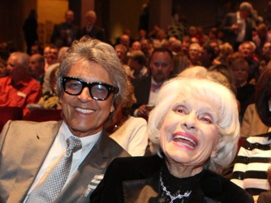 Carol Channing sat in the front row of the McCallum Theatre with Tommy Tune for a 95th birthday tribute to Channing in March 2016.