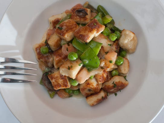 A ricotta gnocchi dish is one of the entree options