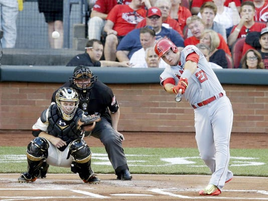 Mike Trout's leadoff home run set the tone in the American League's 6-3 win over the National League in Tuesday's Major League Baseball All-Star Game in Cincinnati.
