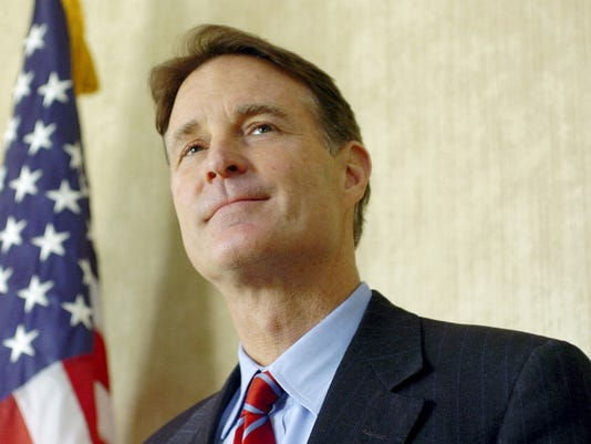 FILE- In this Dec. 20, 2010 file photo, Sen. Evan Bayh speaks at Fort Wayne International Airport, Fort Wayne, Ind. Members of Congress can pretty much do whatever they want with leftover campaign cash when they leave office except use it for personal expenses. Former Indiana Sen. Evan Bayh has kept 10 million in campaign contributions for the last five years, leaving people wondering whether he'll use it to return to politics. (Samuel Hoffman/The Journal Gazette, File)