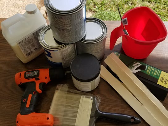 Materials you need for refurbishing an old dresser