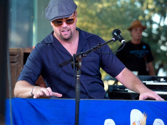 Eric Adcock is keyboard player for Roddie Romero and the Hub City All Stars, which received two Grammy nominations Tuesday.