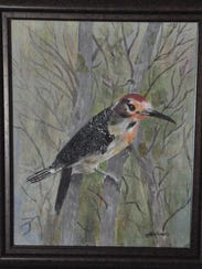 """""""I love painting birds,"""" said Ray. This painting of"""