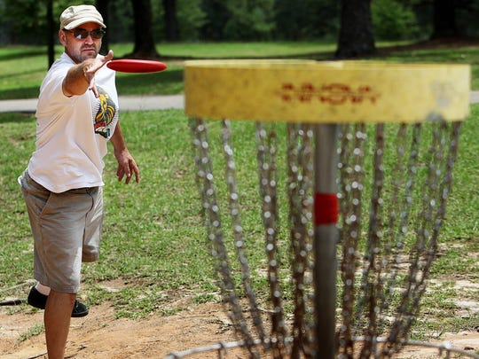 Disc golf is one of the many outdoor activities Tom
