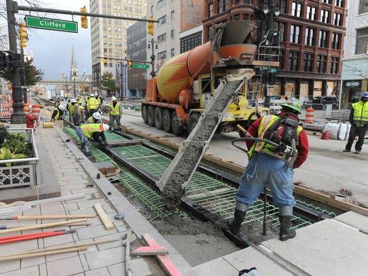 Biden praises Detroit's M-1 Rail