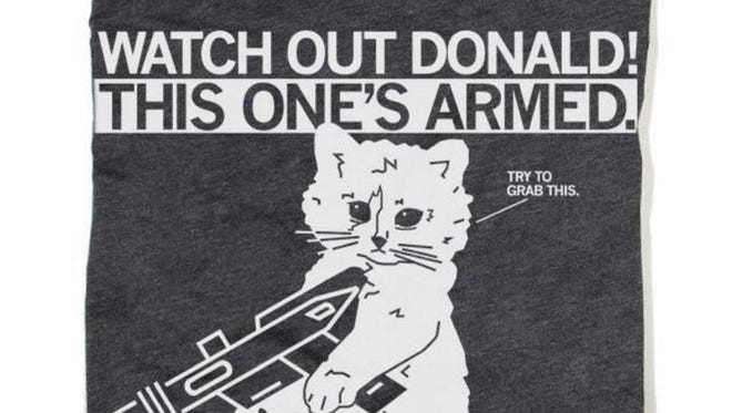 Raygun's new Trump-themed shirt sells for $21.