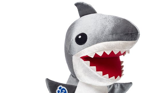 Build-a-Bear's special edition Shark Week plushes,