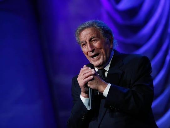 Tony Bennett performs at the Clinton Global Citizen