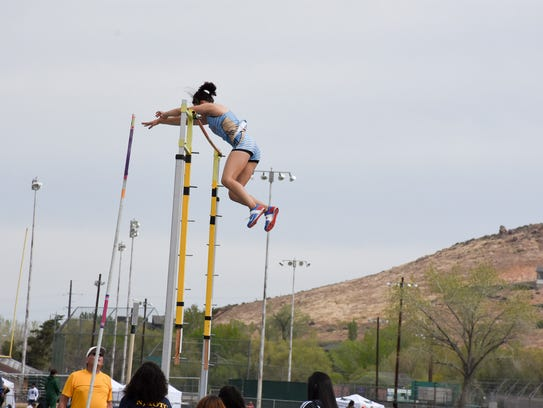 Reed senior Alysia Allen cleared 12-10 in the pole