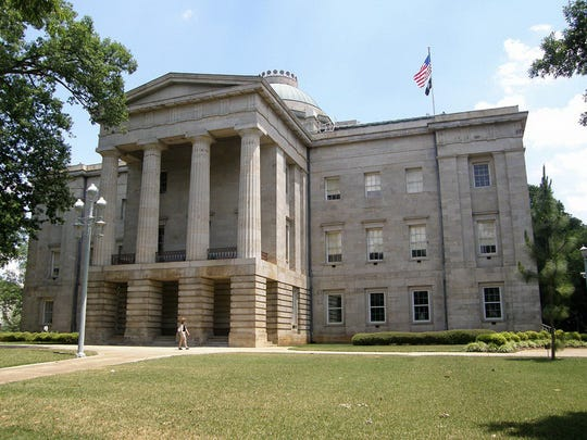 The state Capitol in Raleigh
