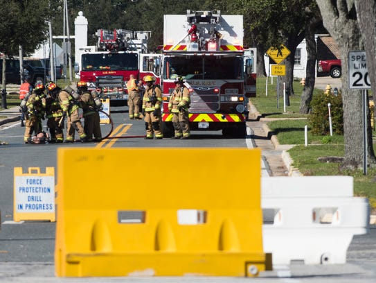 Pensacola Naval Air Station first responders conduct