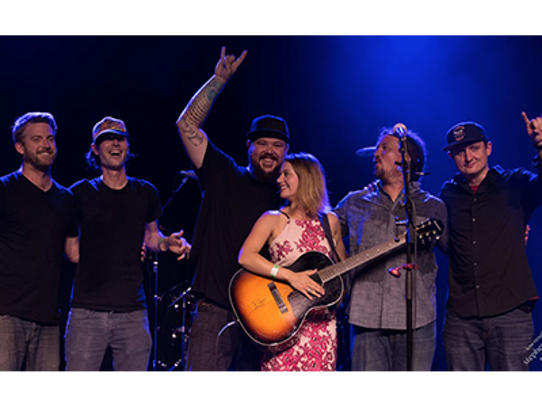 Ashley Heath and Her Heathens performed on a main stage