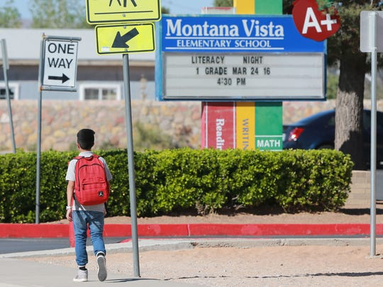 A Montana Vista Elementary student heads home after school Wednesday. Clint ISD officials are considering switching from at-large trustees to single-member districts.