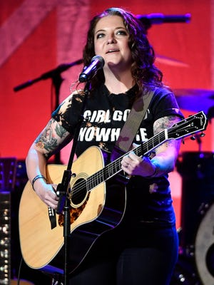 """Ashley McBryde performs """"Girl Goin' Nowhere"""" at Marty Stuart's annual Late Night Jam at the Ryman Auditorium on June 7, 2017."""