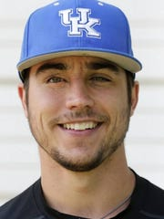 """Even after 13 surgeries around his right eye, from infancy to junior high, Kentucky catcher Kole Cottam said his sight in that eye """"is back to 20-20, if not close to it."""""""