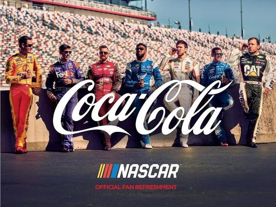 Promotional photo of the Coca-Cola Racing Family