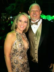 Susan Cox and hubby Judge Jeff Cox, of the 2nd Circuit Court of Appeals, at Krewe Justinian Grand Bal.