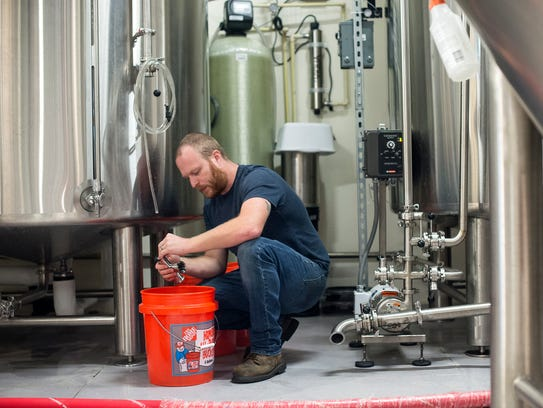 Josh Deitner, the Head Brewmaster at Bone Hook Brewing,