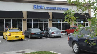 Indiana BMV License Branch at 1400 S. Madison Ave. in Indianapolis.