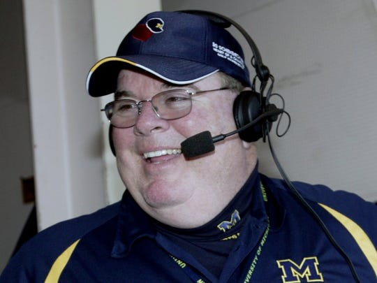 Michigan football radio broadcaster Jim Brandstatter.