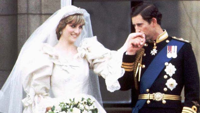 Prince Charles and Princess Diana on the balcony of Buckingham Palace on their wedding day in 1981.