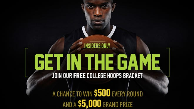 Insiders have the chance to win $5,000 on a free college basketball bracket.
