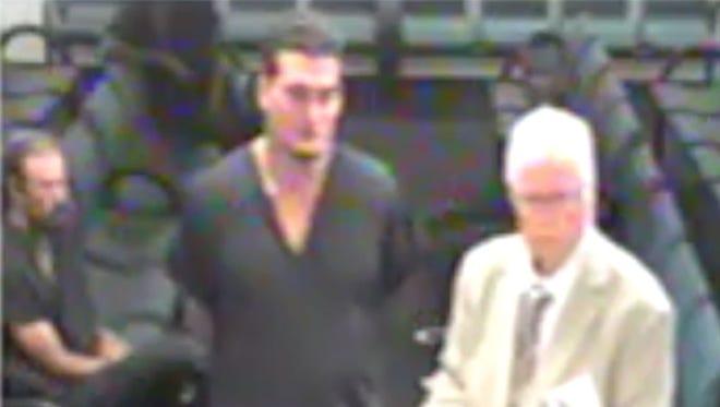 Screen capture of Sigfredo Garcia at bond hearing.